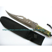 Cuchillo Monte M0543 Acero Full Tang C Funda Y Linterna