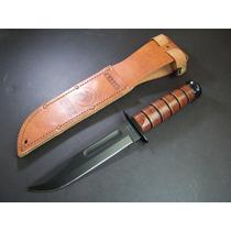 Ka1217 Kabar Usmc Full Plain Leather Alto Carbon Fda/p