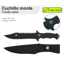 Cuchillo De Monte Con Funda Nylon Y Brujula Marca Lion Tools