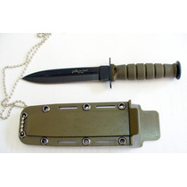 Cuchillo De Cuello Táctico Funda Rigida M2174