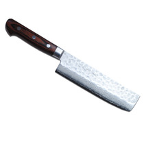 P3 Cuchillo Yoshihiro Cutlery Hammered Damascus Usuba 6 In