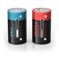 Salero Y Pimentero En Forma De Pilas Baterías Alcalinas