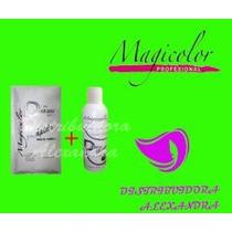 Decolorante En Sobre Blanco 50g + Peroxido 30vol Magicolor