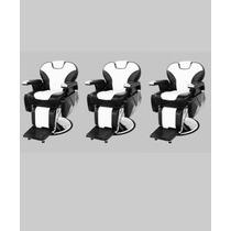 Set 3 Sillon Silla Reclinable Hidraulico Estetica Salon