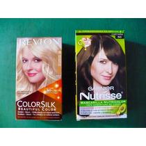 Paquete 3 Tintes Cabello Revlon Colorsilk 95 Nutrisse 50 Y60