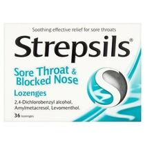Strepsils El Dolor De Garganta Y Congestión Nasal 36 Pastill