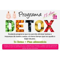Baja De Peso Con Programa Detox - 15 Dias