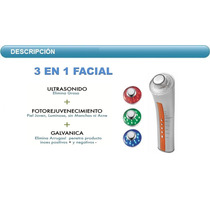 Ultrasonido 3mhz Portatil Facial Fototerapia Galvanica
