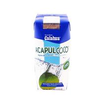 Agua De Coco Calahua Acapulcoco. Caja 16pzs 330ml
