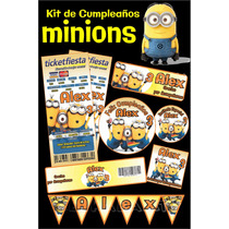 Invitaciones De Cumpleaños Minions Kit