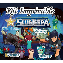Kit Imprimible Bajo Terra Slug Terra + Candy Bar Tarjetas Mx
