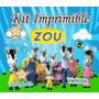Kit Imprimible Zou La Cebra + Candy Bar Invitaciones Fiesta
