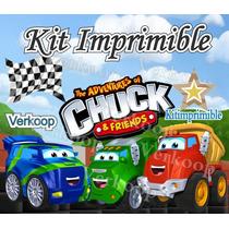 Kit Imprimible Chuck Y Sus Amigos + Candy Bar Cumples Y Masx