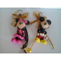 Llavero Mickey Mouse Y Mimi Mouse Pasta Flexible Cumpleaños.