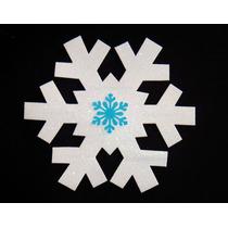 Copos Nieve Frozen Goma Eva Foamy Adorno Navidad Decoración