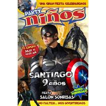 Invitaciones Infantiles Personalizada Comic O Revista Mn4