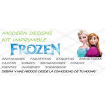 Kit Imprimible Frozen Adornos Invitaciones Recuerdos Y+