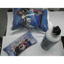 Paquete Frozen Almohada, Lapicero Y Cilindro Para El Agua