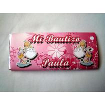 12 Recuerdo Invitación Chocolates Gigantes Bautizo ++ $10c/u