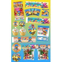 Kit Imprimible Pocoyo Personalizado 30 Etiquetas