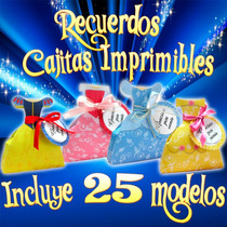 Recuerditos Princesas Disney 21 Cajitas Imprimibles New 2015