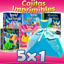 Recuerdos Cajitas Imprimibles Princesas Disney Extragrandes