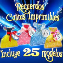 Cajitas Recuerdos Para Fiesta Princesas Disney Principes 5x1