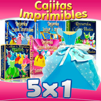 Kit Cajitas Imprimibles Princesas Disney Incluye 25 Modelos