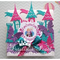 Invitaciones Castillo Frozen Princesa Sofia Cajitas Recuerdo