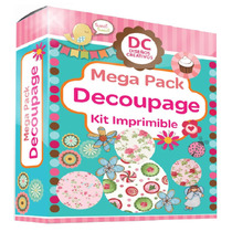 Kit Imprimible Decoupage + Tutorial Tecnicas