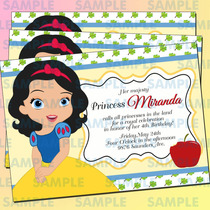 Invitaciones Blanca Nieves-invitaciones Princesas-princesas