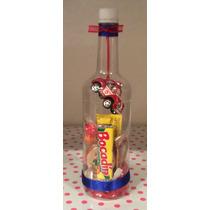 Botella Con Dulces, Ideal Para Recuerdos De Tus Eventos!!!!!