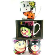 Tazas Con Caja !!! Halloween Dia De Muertos Tarros