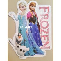 Fiesta De Frozen, 8 Stickers Para Cajas, Dulceros Decoración