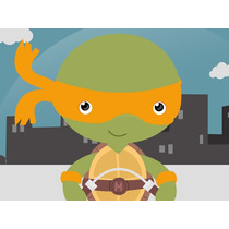 Kit Imprimible Tortugas Ninjas Baby Candy Bar Tarjetas Y Mas