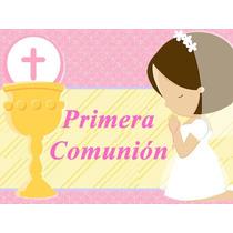 2x1 Kit Imprimible Primera Comunion Nena Diseñá Tarjetas Y