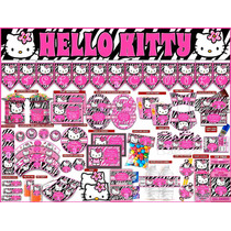 2 X 1 Kit Imprimible Hello Kitty Zebra, Powerpoint Editable