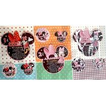 Invitaciones Mimi Minnie Mouse Personalizadas Impresas Cumpl