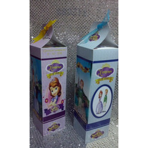 10 Dulceros Caja De Carton Personalizada Princesita Sofia