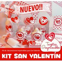 Kit Imprimible San Valentin Tarjetas Marco Fotos Cajitas2x1