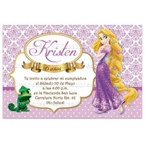 Kit Imprimible Rapunzel Invitaciones Princesas Disney