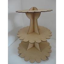 Base Cupcakes Nube Redonda 3 Pisos Muffins Panques Mdf