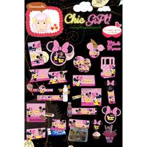 Kit Personalizable Imprimible Minnie Mouse, Mimi Mouse, Mimi
