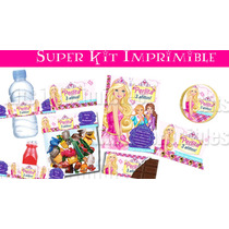 Barbie Escuela De Princesas Super Kit Imprimible! Bfn