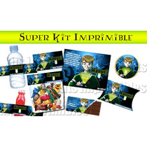 Ben 10 Alien Force Super Kit Imprimible De Cumpleaños! Rgl