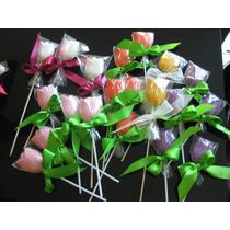 Paletas De Chocolate En Forma De Tulipán