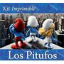 Kit Imprimible Pitufos La Pelicula 3d Smurfs Invitaciones Mx