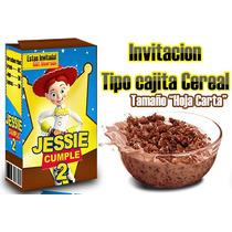 Jessie Toy Story Invitacion Cajita Y Mas, Kit Imprimible