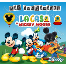 Kit Imprimible La Casa De Mickey Mouse Mickey Club House