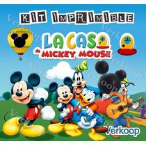 Kit Imprimible La Casa De Mickey Mouse Mickey Club House